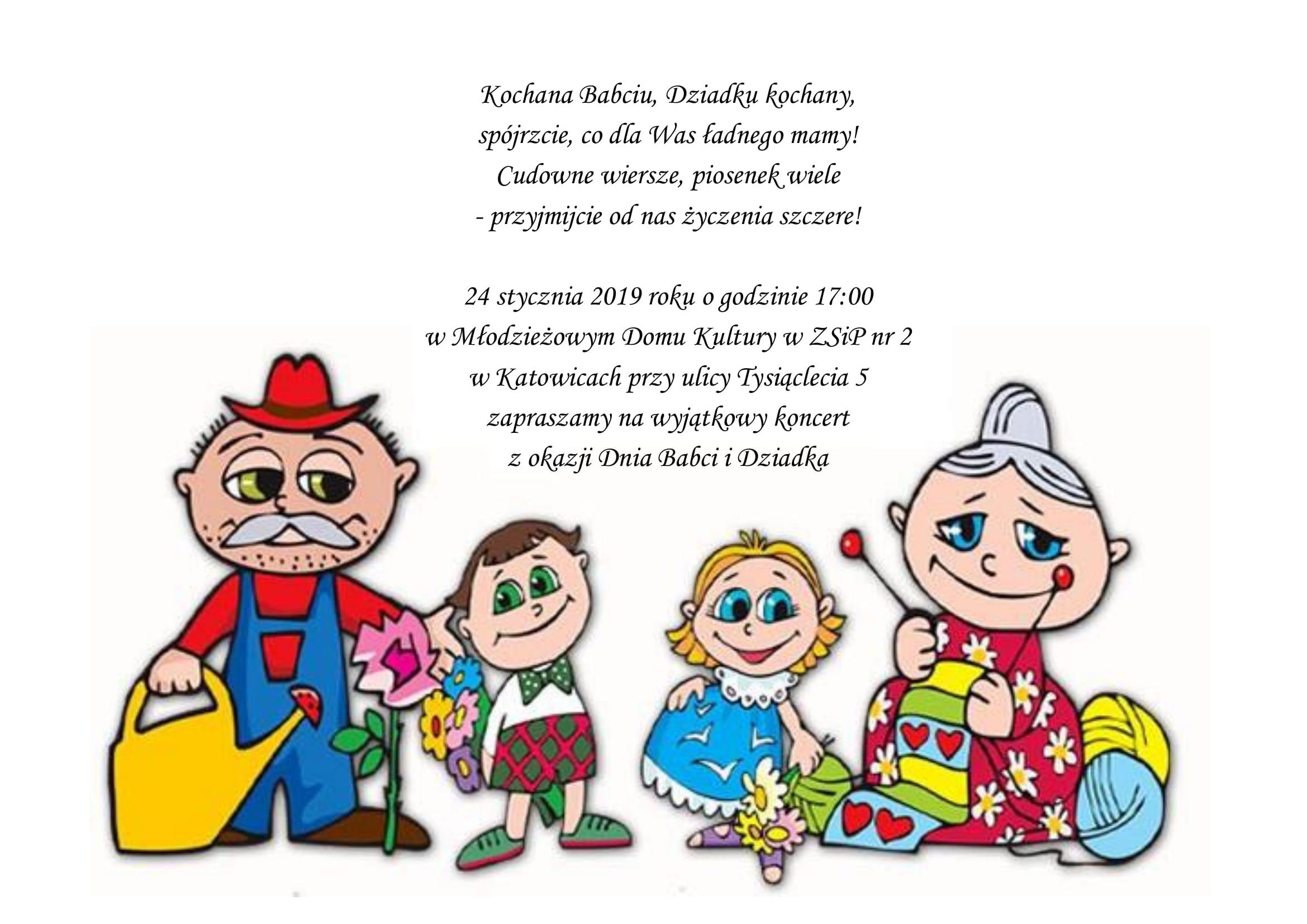 Dzień Babci I Dziadka Mdk Katowice Ul Tysiąclecia 5